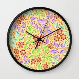 Sunshine Filigree Floral Wall Clock