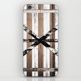 Rustic Multi Wood Barn Door iPhone Skin