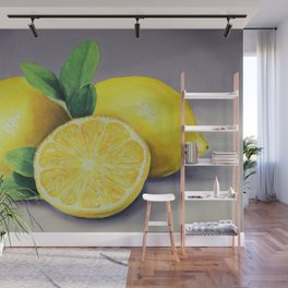 The Lemons, A Realistic Oil Painting Wall Mural