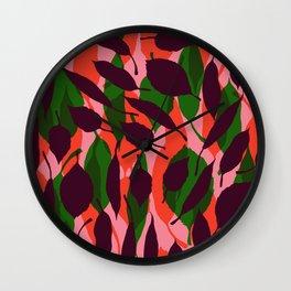 jungle leaf Wall Clock