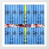 stripe Art Prints featuring stripe by Keith Cameron
