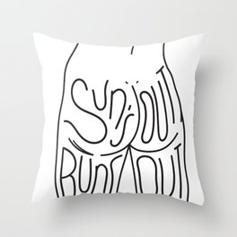 Sun's Out Buns Out Throw Pillow