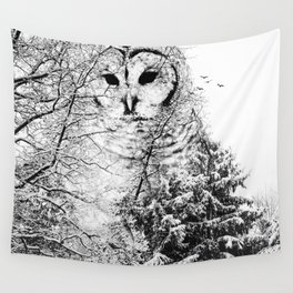 Winter Owl Wall Tapestry