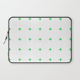 PLUS ((true green on white)) Laptop Sleeve