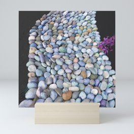 Serpentine Flow of Colorful River Rocks Mini Art Print