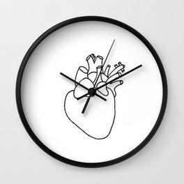 heart on your sleeve Wall Clock