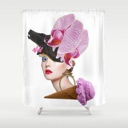 Flower Icecream by Lenka Laskoradova Shower Curtain