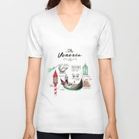 venice V-neck T-shirts featuring Venice by Volha