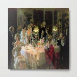 Jules Grun's The Dinner Party Metal Print