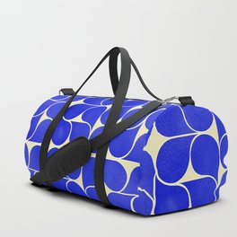 Blue mid-century shapes no8 Duffle Bag
