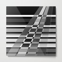 Black and white abstract pattern . The slant line 1. Metal Print