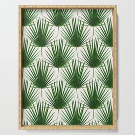 Simple Palm Leaf Geometry Serving Tray