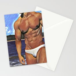 PR7, Original Gay Art, Sketches of Men, Gay Men, Male nude Figure, Gay Male Artwork, Gay Home Deco Stationery Cards