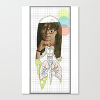 lungs Canvas Prints featuring lungs by Cassidy Rae Marietta