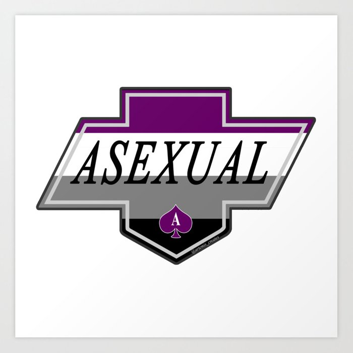 Identity Stamp: Asexual Art Print