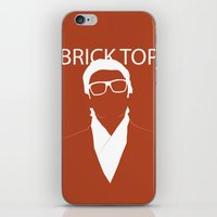 snatch iPhone & iPod Skins featuring Brick Top by TdL MD