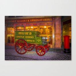 Old Glasgow Street Scene  Canvas Print