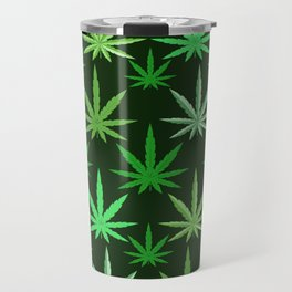 Marijuana Green Leaves Weed Travel Mug