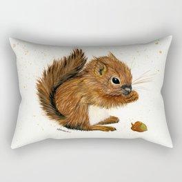 Baby Squirrel - animal watercolor painting Rectangular Pillow