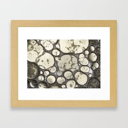 Oil on Water Bubble Abstract II Framed Art Print