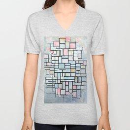 Piet Mondriaan Composition No. IV Unisex V-Neck