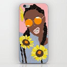 Believe in Yo Juice - Digital Black Goddess Vector Drawing iPhone Skin