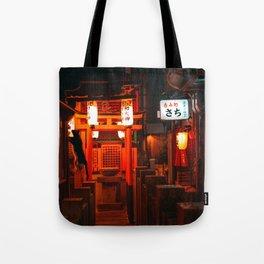 Ninja Kitty & Japanese Tori Tote Bag