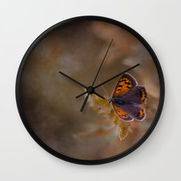 Small Copper butterfly Wall Clock