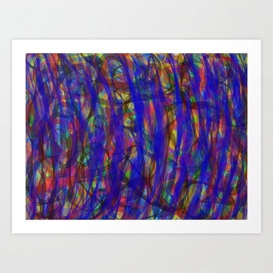 Blue Intensity Art Print