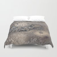 rush Duvet Covers featuring Golden Rush by Anna Garcia Masfret