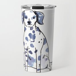 Sawyer - Dog Watercolour Travel Mug