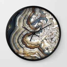 Blue Agate Wall Clock