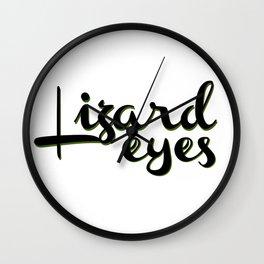 Lizard Eyes Wall Clock