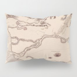 Map Of The Fraser River 1860 Pillow Sham