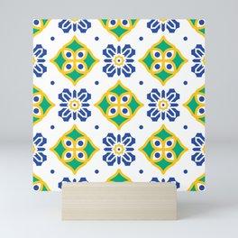 Mediterranean pattern Mini Art Print