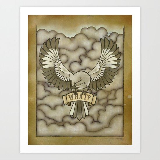 Mockingbird tattoo print Art Print