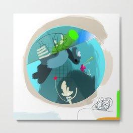 Underwater Dragon Metal Print