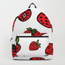 Strawberry Pattern Backpack