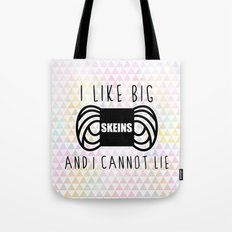 i like big skeins and i cannot lie funny yarn knit crochet Tote Bag