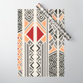 Tribal ethnic geometric pattern 034 Wrapping Paper