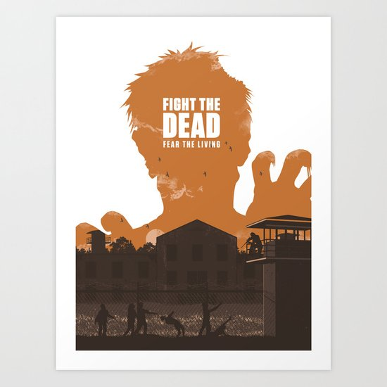 The Walking Dead Prison Walkers Art Print