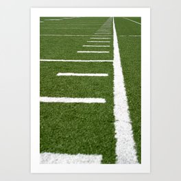 Football Lines Art Print