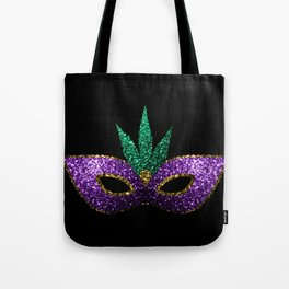 Mardi Gras Mask Purple Green Gold Sparkles Tote Bag