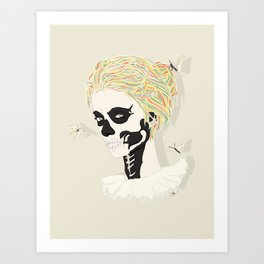 Skull Arlequin Art Print