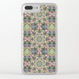 Abstract Flower Pattern AA YY Q B Clear iPhone Case