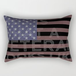 This is what a Veteran looks like Rectangular Pillow