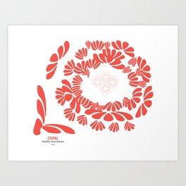 CORAL:  healthy boundaries Art Print