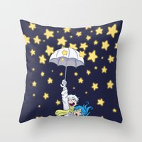 dmmd Throw Pillows featuring DMMd :: The stars are falling by Thais Magnta Canha