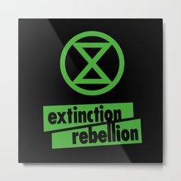 Extinction Rebellion International Movement Metal Print