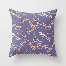 Orange Glasses Throw Pillow